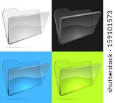 glass file folder vector...