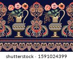 Seamless  Border With Elements...