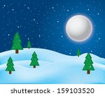 vector of winter landscape.... | Shutterstock .eps vector #159103520