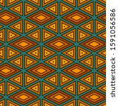 ethnic  tribal seamless surface ... | Shutterstock .eps vector #1591056586