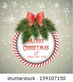marry christmas and new year... | Shutterstock .eps vector #159107150