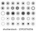 simple retro black monochrome... | Shutterstock .eps vector #1591076356