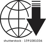 an icon download contain globe... | Shutterstock .eps vector #1591081036