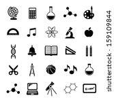 black school icons | Shutterstock .eps vector #159109844
