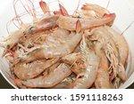 Fresh Sea Prawns. Catch Of The...