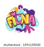 fiona girl color inscription on ... | Shutterstock .eps vector #1591135030