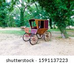 Small photo of Historical carriages of a horse-drawn carriage