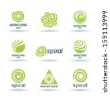 set of spirals  2  | Shutterstock .eps vector #159113999