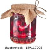 Compote Glass Jar With Cherrie...