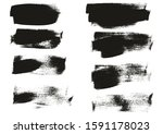 calligraphy paint wide brush... | Shutterstock .eps vector #1591178023