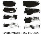 calligraphy paint wide brush... | Shutterstock .eps vector #1591178023