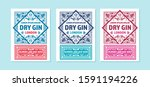 vintage label with gin liquor...   Shutterstock .eps vector #1591194226