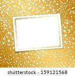 greeting card with frame on a... | Shutterstock . vector #159121568