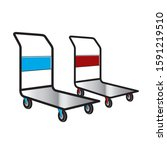 hand trolleys isolated on white | Shutterstock . vector #1591219510