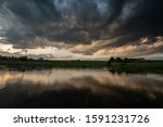 Landscape With Dark Stormy...