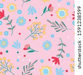 cute childish pattern with...   Shutterstock .eps vector #1591238599