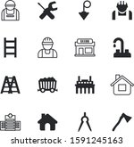construction vector icon set... | Shutterstock .eps vector #1591245163