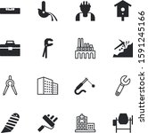 construction vector icon set... | Shutterstock .eps vector #1591245166