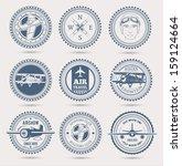 aviation badges. eps10.   Shutterstock .eps vector #159124664