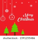 red color merry christmas... | Shutterstock . vector #1591255486