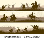 horizontal vector banners of... | Shutterstock .eps vector #159126080