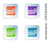 color calendar icon isolated on ...