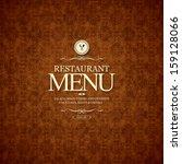 restaurant menu design | Shutterstock .eps vector #159128066