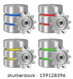 data processing concept icons... | Shutterstock . vector #159128396