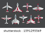 airplanes and military aircraft ... | Shutterstock .eps vector #1591295569