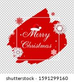 merry christmas poster with... | Shutterstock .eps vector #1591299160