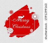merry christmas poster with... | Shutterstock . vector #1591299163