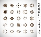 abstract circle icon set.... | Shutterstock .eps vector #1591310503