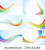 abstract rainbow wavy...