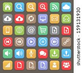 web and internet flat icon set. ... | Shutterstock .eps vector #159131930