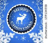 blue background with fir... | Shutterstock .eps vector #159134558