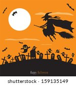 spooky halloween background  | Shutterstock .eps vector #159135149