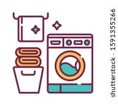 laundry room color line icon....