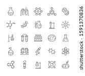 laboratory chemistry thin line... | Shutterstock .eps vector #1591370836
