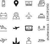 Travel Vector Icon Set Such As...
