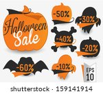 Halloween Sale Vector Badges...
