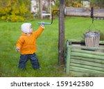boy near draw well | Shutterstock . vector #159142580