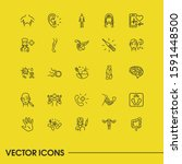 healthcare icons set with human ...