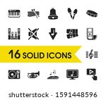melody icons set with maracas ... | Shutterstock .eps vector #1591448596