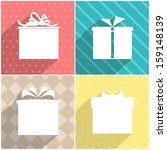 set of four icons of gift boxes ... | Shutterstock .eps vector #159148139
