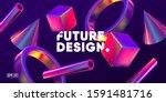 3d background with gradient...   Shutterstock .eps vector #1591481716