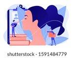 plastic surgeon correcting the...   Shutterstock .eps vector #1591484779