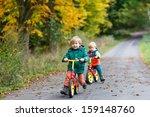 two little siblings having fun... | Shutterstock . vector #159148760