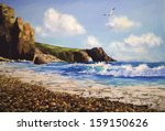 Vector Sea Landscape With...