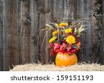 Pumpkin Flower Arrangement On...