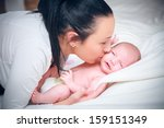 picture of happy mother with... | Shutterstock . vector #159151349